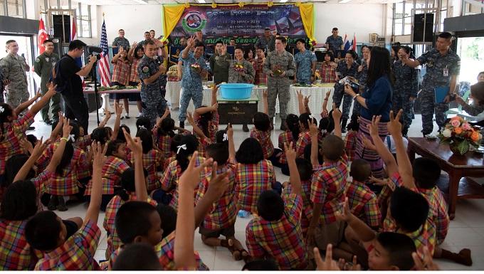 MISSION: U.S., Thai and Singaporean Airmen support Korat community during COPE Tiger 2019